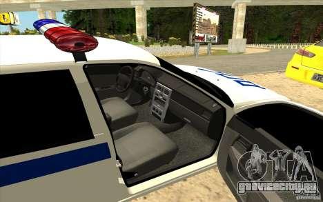 ВАЗ 2170 ДПС Самара для GTA San Andreas вид слева