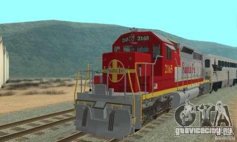 SD40 Santa Fe для GTA San Andreas