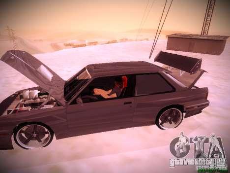 BMW M3 Drift для GTA San Andreas вид сбоку