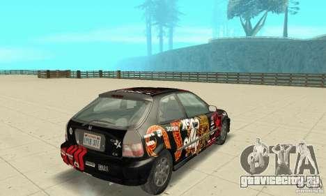 Honda-Superpromotion для GTA San Andreas вид слева