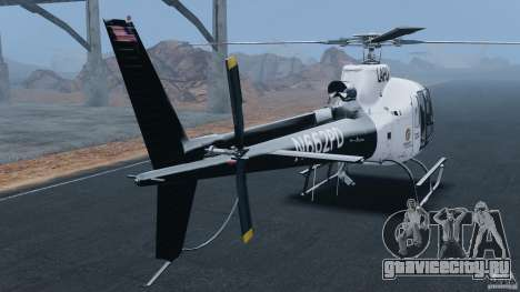 Eurocopter AS350 Ecureuil (Squirrel) для GTA 4 вид сзади слева
