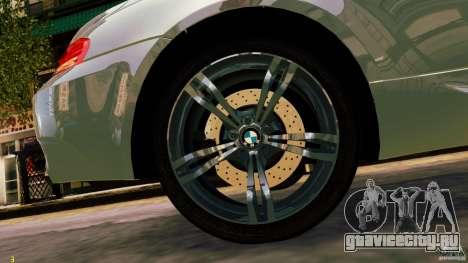 BMW M6 2010 для GTA 4 вид сзади слева