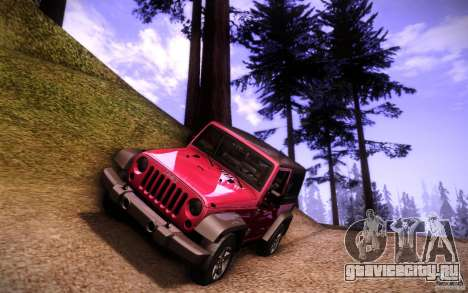 Jeep Wrangler Rubicon 2012 для GTA San Andreas вид снизу