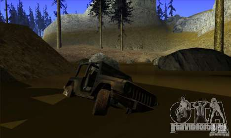 Jeep Wrangler для GTA San Andreas вид снизу