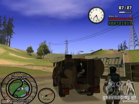 Australian Bushmaster для GTA San Andreas вид справа
