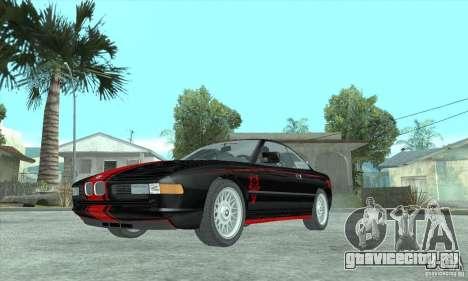 BMW 850i для GTA San Andreas вид сзади