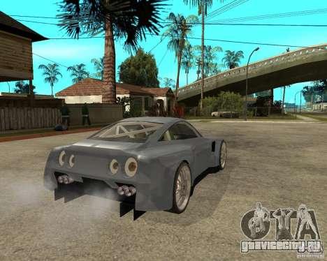 Nissan Skyline GT-R35 proto tuned для GTA San Andreas вид сзади слева