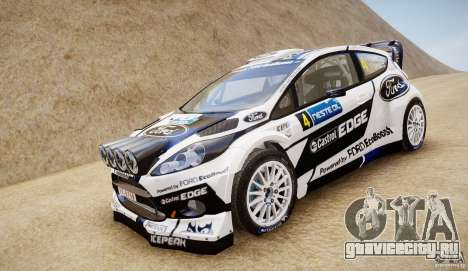 Ford Fiesta RS WRC для GTA 4 вид сзади слева