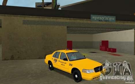 Ford Crown Victoria Taxi для GTA Vice City вид сзади