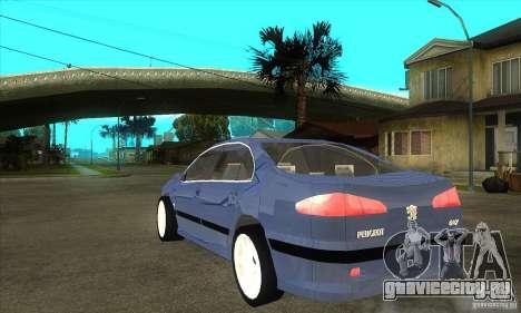 Peugeot 607 для GTA San Andreas вид сзади слева