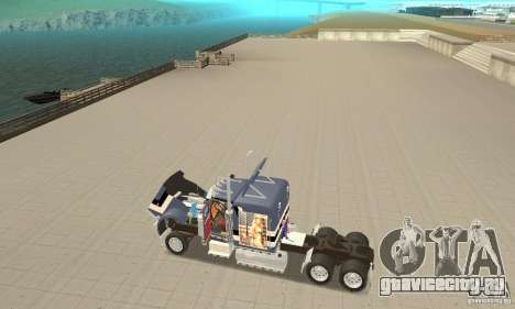 Peterbilt 359 для GTA San Andreas вид сзади