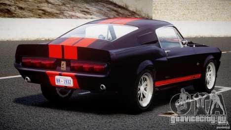 Ford Shelby GT500 1967 для GTA 4 вид сверху