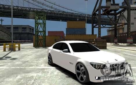 BMW 750 LI F01 v1.3 для GTA 4 вид сзади