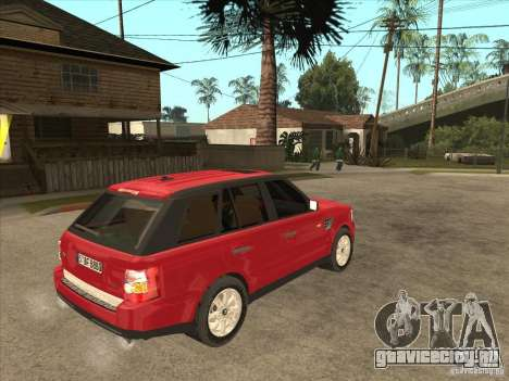 Range Rover Sport 2007 для GTA San Andreas вид справа