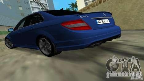 Mercedes-Benz C63 AMG 2010 для GTA Vice City вид слева