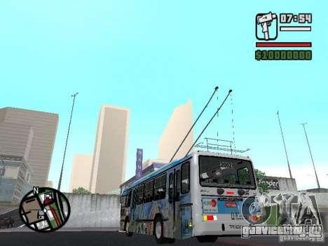Marcopolo Torino GV Trolebus для GTA San Andreas вид сзади слева