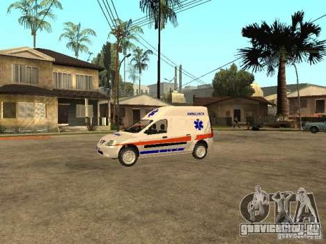 Dacia Logan Ambulanta для GTA San Andreas вид слева