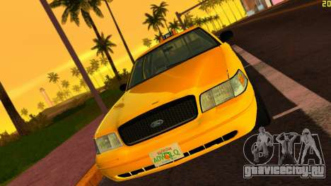 Ford Crown Victoria Taxi 2003 для GTA Vice City вид слева
