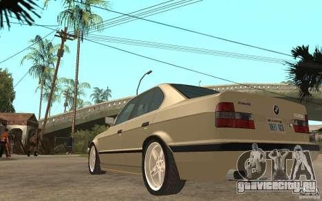 BMW 535i e34 AC Schnitzer для GTA San Andreas вид сзади слева