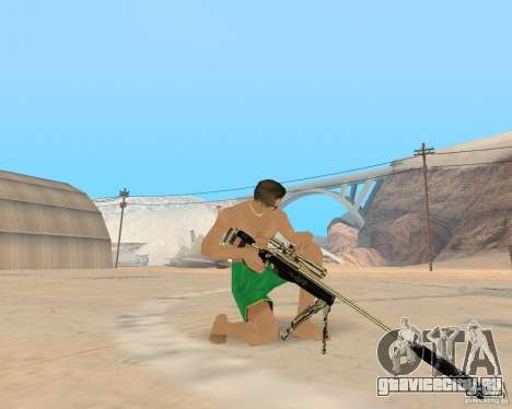Gold weapons pack для GTA San Andreas
