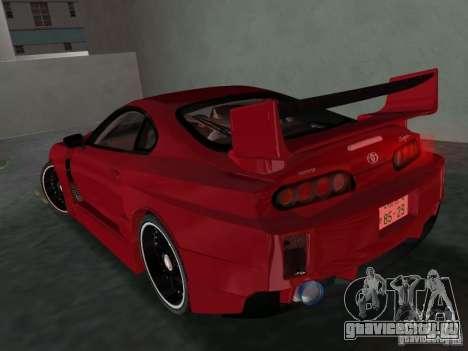Toyota Supra Chargespeed для GTA Vice City вид справа
