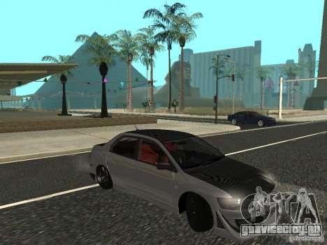 Mitsubishi Lancer Evolution VIII для GTA San Andreas вид слева