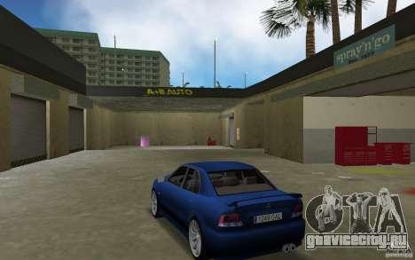 Mitsubishi Galant для GTA Vice City вид сзади слева