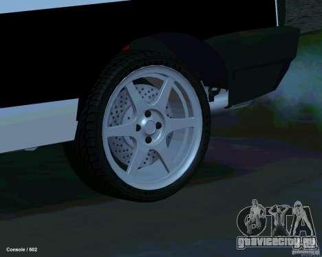 ВАЗ 2108 Драговая для GTA San Andreas вид снизу