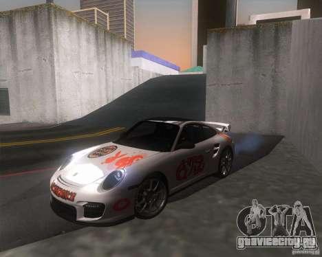 Porsche 911 GT2 (997) для GTA San Andreas вид сзади