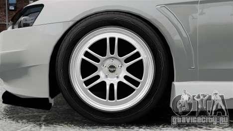 Mitsubishi Lancer Evolution X ToneBee Designs для GTA 4 вид сзади