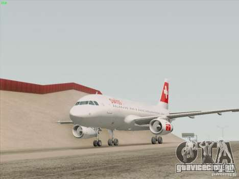 Airbus A319-112 Swiss International Air Lines для GTA San Andreas салон