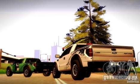 Ford F-150 SVT Raptor V1.0 для GTA San Andreas вид сзади слева