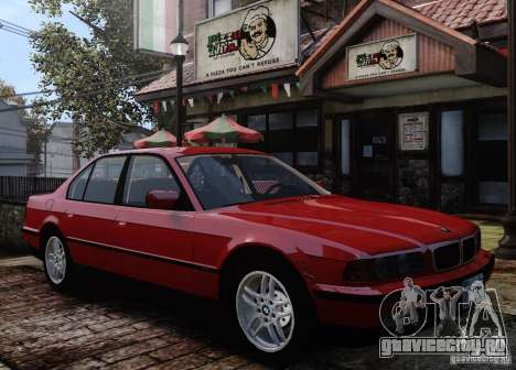 BMW 750i E38 1998 M-Packet для GTA 4 вид сверху