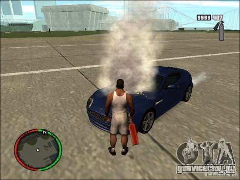 Тушение авто огнетушителем для GTA San Andreas четвёртый скриншот
