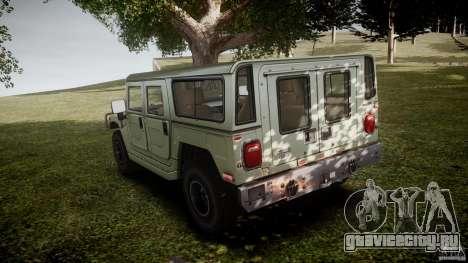 Hummer H1 Original для GTA 4 вид сзади слева