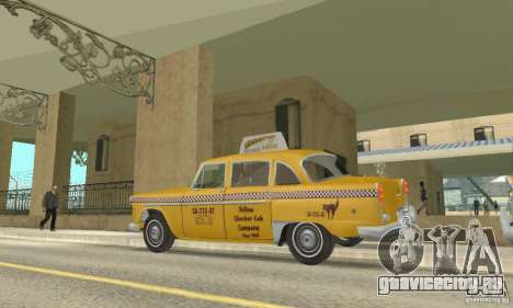 Checker Marathon 1977 Taxi для GTA San Andreas вид справа