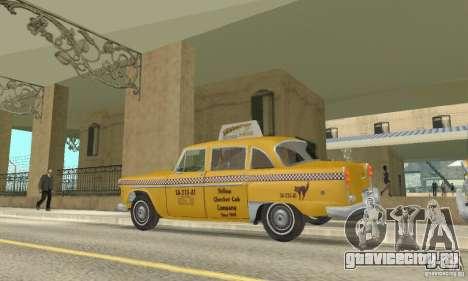 Checker Marathon 1977 Taxi для GTA San Andreas вид справа