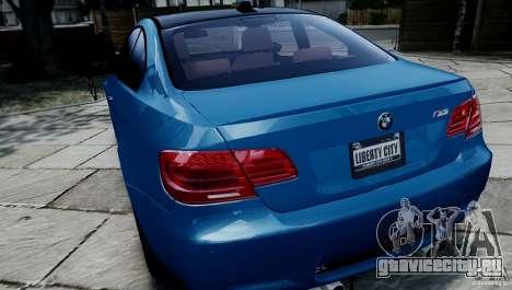 BMW M3 E92 ZCP 2012 для GTA 4 вид сзади
