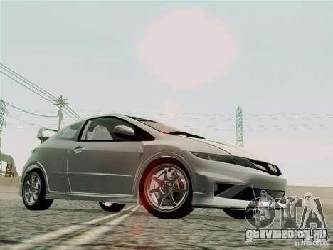 Honda Civic TypeR Mugen 2010 для GTA San Andreas вид сверху