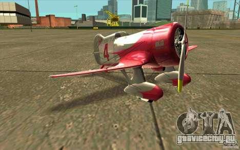 GeeBee typeZ для GTA San Andreas вид слева