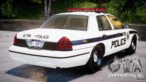 Ford Crown Victoria 2003 FBI Police V2.0 [ELS] для GTA 4 двигатель