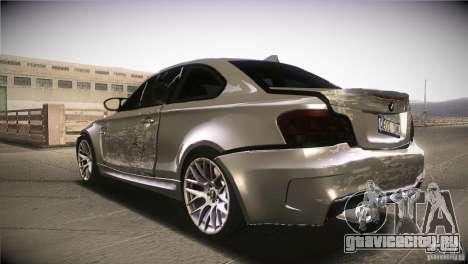 BMW 1M E82 Coupe 2011 V1.0 для GTA San Andreas вид снизу