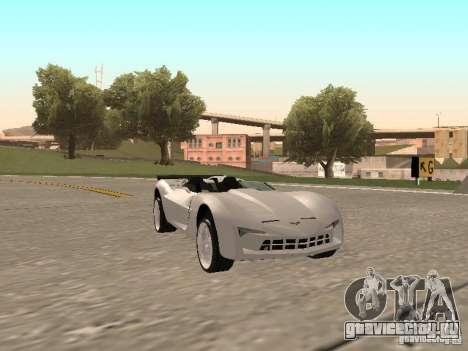 Chevrolet Corvette C7 Spyder для GTA San Andreas вид слева