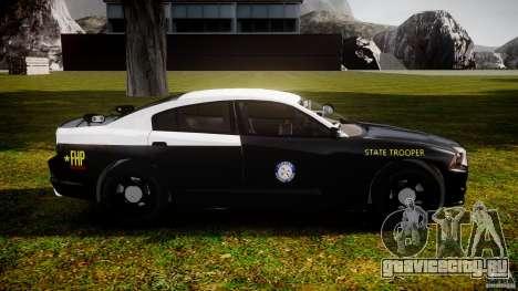 Dodge Charger 2012 Florida Highway Patrol [ELS] для GTA 4 вид сзади