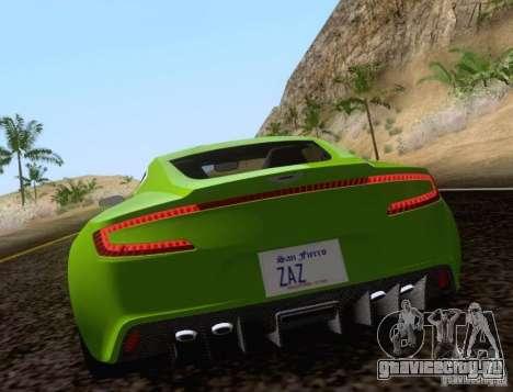 Aston Martin One-77 для GTA San Andreas вид слева