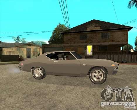 1969 Chevrolet Chevelle для GTA San Andreas вид справа