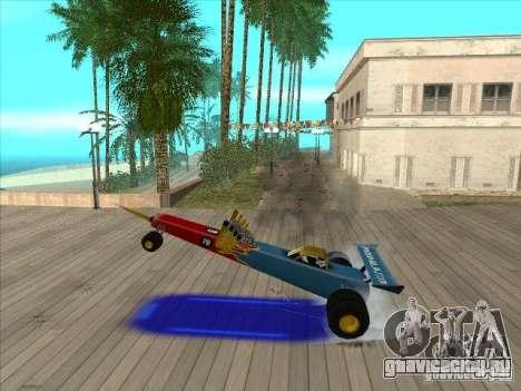 Dragg car для GTA San Andreas вид сбоку