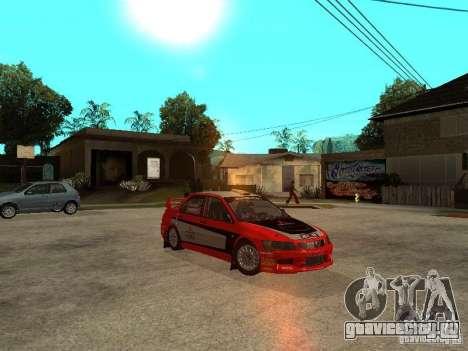 Mitsubishi Lancer Evo IX DiRT2 для GTA San Andreas вид сзади