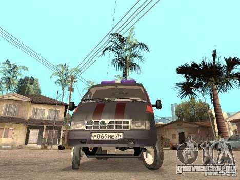 ГАЗель 2705 Газовая служба для GTA San Andreas вид слева