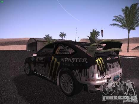 Ford Focus RS Monster Energy для GTA San Andreas вид справа